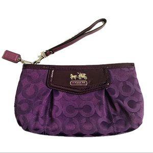 NWOT Coach Purple Wristlet 💐